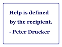 help is defined by the recipient