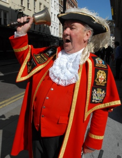 town crier spreads the good news